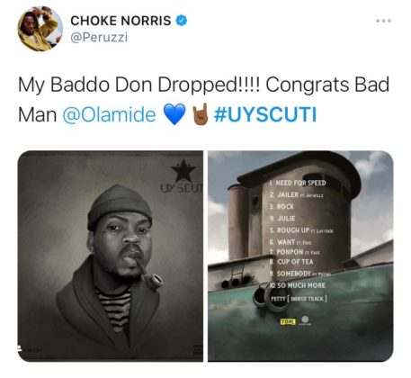Don Jazzy, Timi Dakolo, Do2dtun, and Others React to Olamide's 'UY Scuti'
