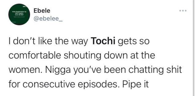 BBNaija Reunion: Tochi Gets Confrontational With His Former Housemates