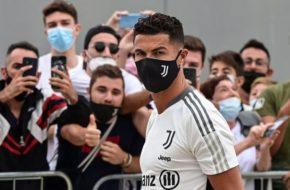 Cristaino Ronaldo arrives Juventus training ground