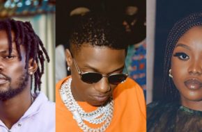 Wizkid Shares Video of Studio Session with Ghana's Fameye & Gyakie