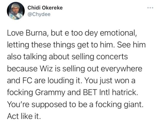Here's How Burna Boy Responded to Bia's Claim of Not Knowing Him