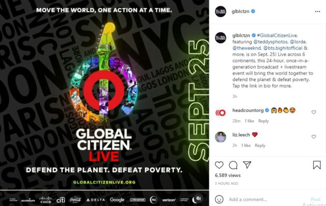Global Citizen Live 2021 Line ups of Performers