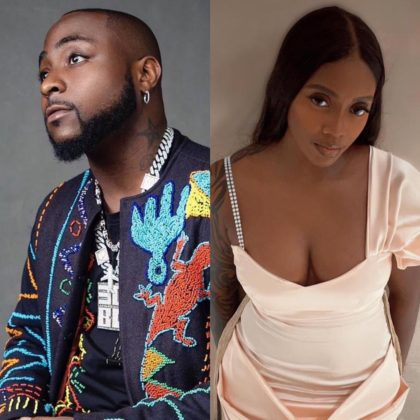 Davido and Tiwa Savage Pay Visit to Obama DMW's Grave in Epe