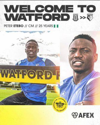 Etebo Watford Loan