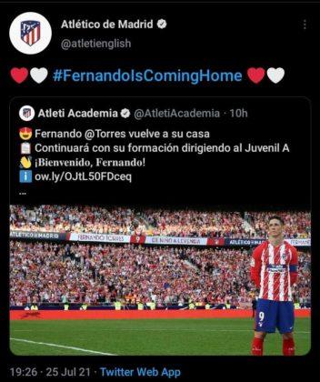 Fernando Torres in Atletico Madrid Stadium