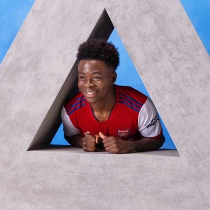 Bukayo in Arsenal's kit launch