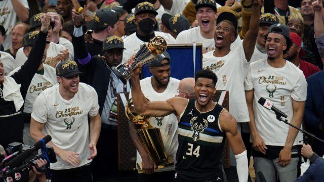 Antetokounmpo NBA Bucks Title