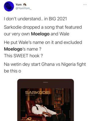 Moelogo Exclusion from Sarkodie's Album Sparks Online Debate NotjustOK