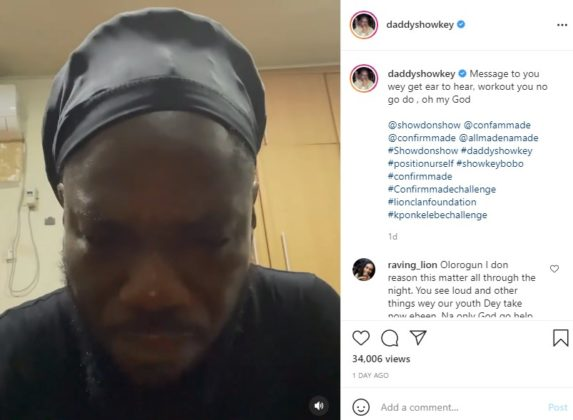 Daddy Showkey Warns Celebrities Against Promoting Substance Usage