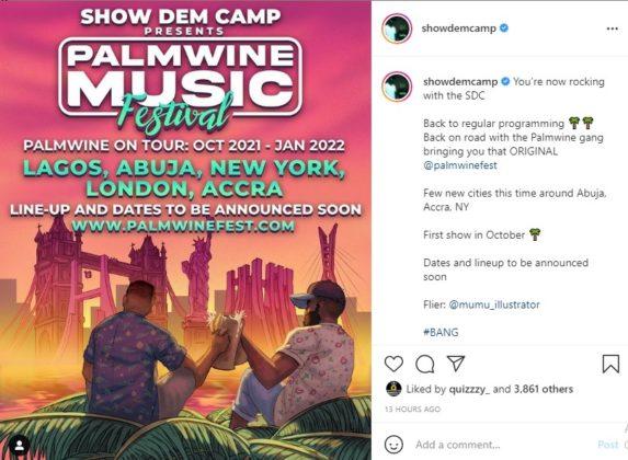 Show Dem Camp Unveil Plans for Palmwine Music Fest Tour