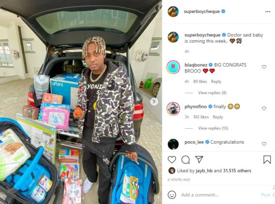 See How Superboy Cheque Revealed He's Expecting a Baby | NotjustOK