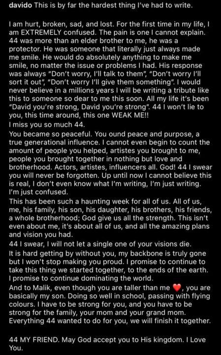 Davido Tribute Obama DMW