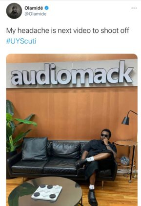 Olamide Wants to Know What Video to Shoot Next from 'UY Scuti'