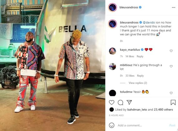 Yung Bleu Discloses Release Date for Collab With Davido, Here's How