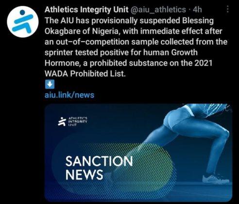 Athletics Intergrity Unit