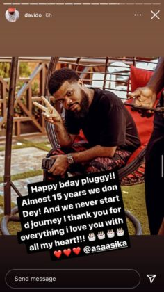 Davido Pens Lovely Note to Manager, Asa Asika on His Birthday | READ