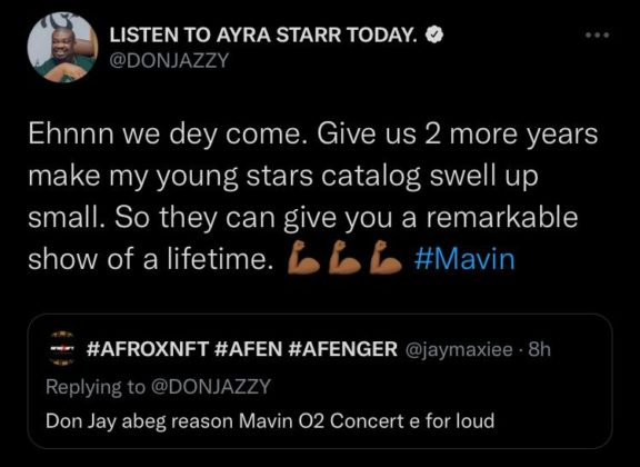 Don Jazzy Reveals Plans for Mavin Records Concert at the O2 NotjustOK
