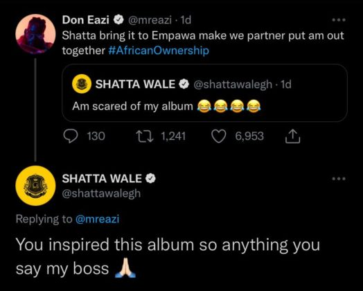 Shatta Wale Says Mr Eazi Inspired His Album Read NotjustOK
