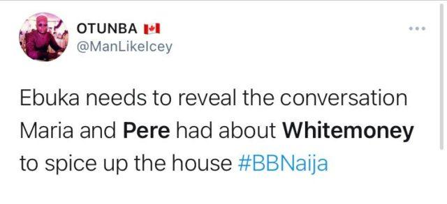 BBNaija Updates Pere Sacks WhiteMoney from Kitchen Duties NotjustOK
