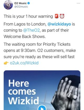 See The Reactions to Wizkid Affordable O2 Tickets NotjustOK