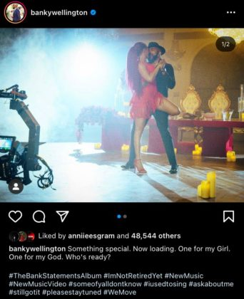 Banky W Hints at Arrival of New Music Video and Album Details Notjustok