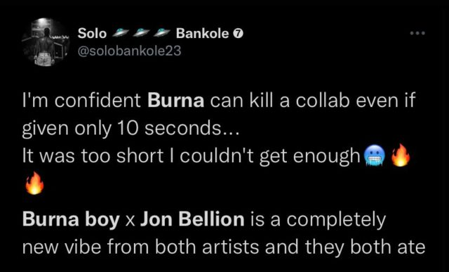 See Fan Reactions to Jon Bellion and Burna Boy New Song NotjustOK