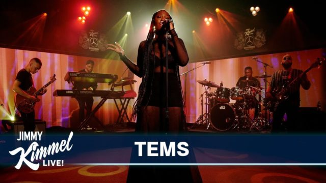 WATCH Tems Performs Avoid Things off New EP on Jimmy Kimmel Live Watch Video NotjustOK