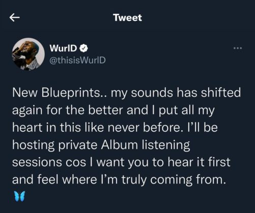 WurlD Set to Host Private Listening Sessions for New Album NotjustOK