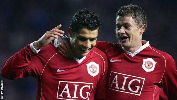Ronaldo and Ole Gunnar Solksjaer