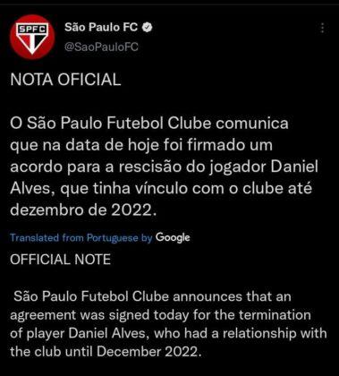 Sao Paulo Twitter account
