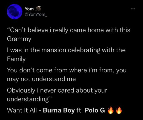 See Reactions to Burna Boy and Polo G New Collab Want It All NotjustOK