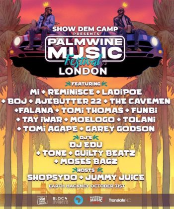 SDC Unveil Lineup for Palmwine Fest in London Details NotjustOK