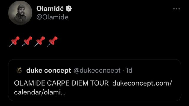 Olamide Carpe Diem Tour