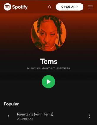 CKay Tems Spotify