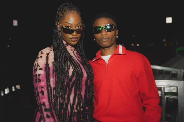 Wizkid and Tems Receive Platinum Plaque for Essence in the US Watch Video NotjustOK